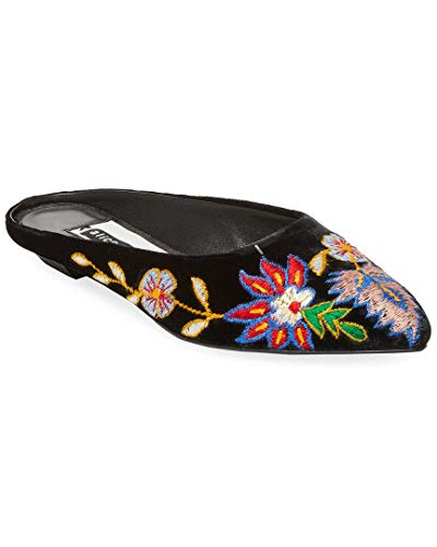 alice + olivia Women's Abbey Embroidered Mules, Multi/Black, 37 EU (7 B(M) US Women)