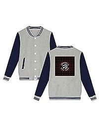 Unisex Women's Varsity Baseball Uniform Jacket Toronto Raptors TR Logo Sport Coat Winter Sweater Velvet
