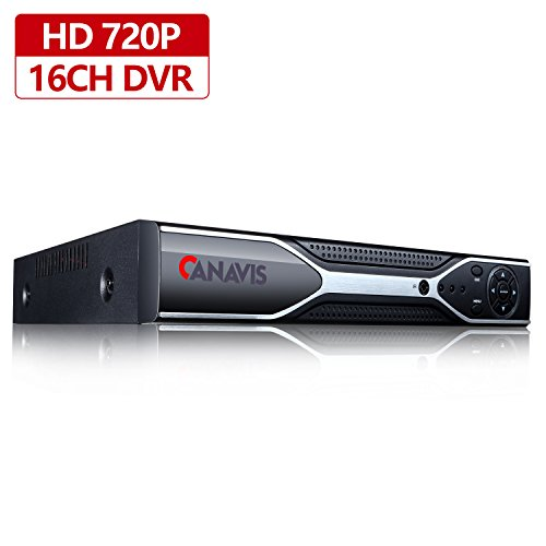 16CH DVR Surveillance Digital Video Recorder,1080N AHD NVR HD DVR for CCTV Security Camera System Suport Mobile Phone Monitoring,Motion Detection,Real time Recording,No Hard Drive