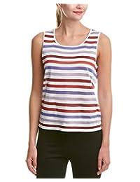 Anne Klein Womens Striped Shimmer Tank Top