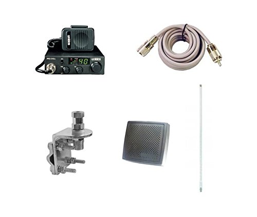 - Pro Trucker Complete CB Radio Kit Includes Radio, 4' Antenna, Coax, Speaker, and Mount Full Kit Easy to Install