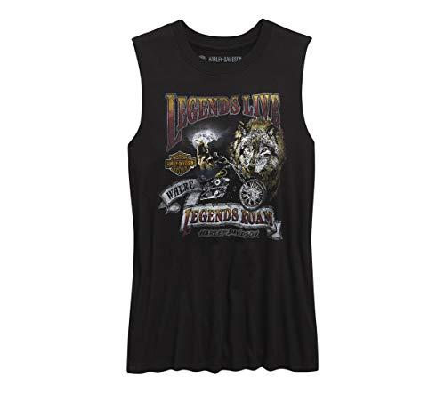 Harley-Davidson Official Women's Legends Live Muscle Tank, Black (Large)