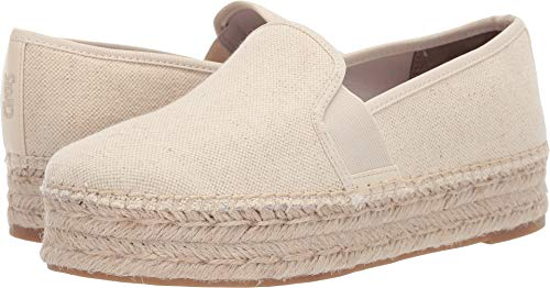 Circus by Sam Edelman Women's Christina Platform Ivory Two Tone Heavy Canvas 9 M US