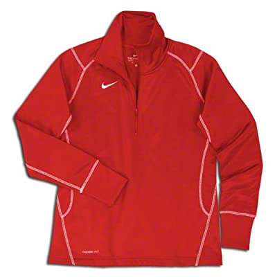 Nike Women's Quarter Zip Therma-Fit Performance Sweatshirt, Color Options (Small, Scarlet)