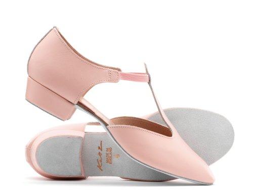 Ladies Shoe Girls Dance Pink Sandal By Ballroom Teaching Katz Cerco Salsa Dancewear Greek Jive Leather qqrwPx