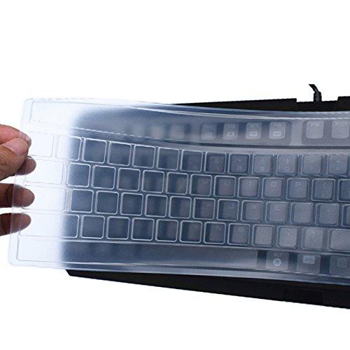 Leze - Colorful Universal Desktop Computer PC Keyboard Skin Protector Cover for Fullsize Desktop Computer Keyboard - Clear