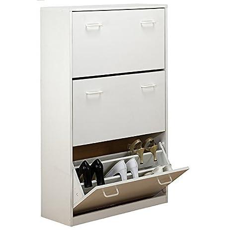Amazon.com: Venture Horizon Triple Shoe Cabinet- White: Kitchen ...