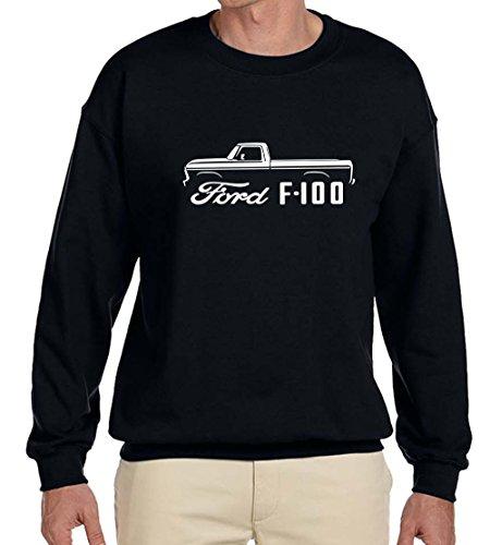 1973-79 Ford F100 F-100 Pickup Truck Classic Outline Design Sweatshirt large black