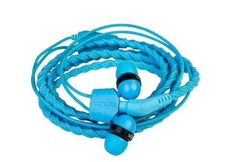 Wraps Wearable Braided Wristband Headphone Earbuds, Talk Lagoon (WRAPSCBLU-V15M)