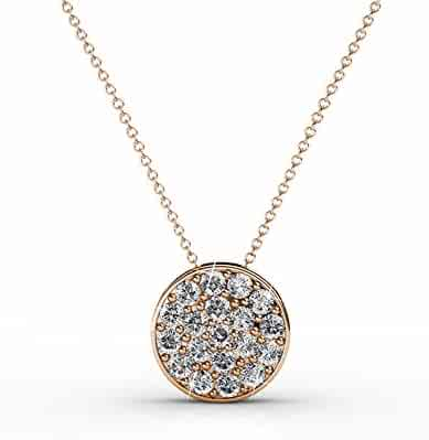 "888006f7bf7a4 Cate   Chloe Nelly ""Valor"" White Gold Plated Pave Stone Necklace with  Swarovski Crystals"