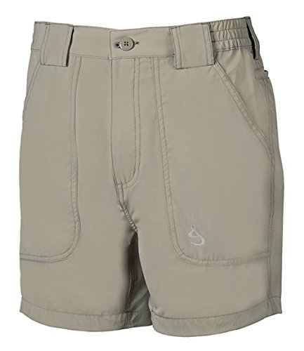 Hook & Tackle Men's Beer Can Island 4-Way Stretch Fishing Short Sand 36