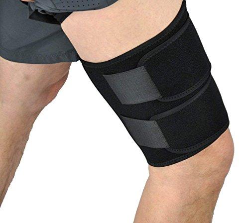 Medical Grade Thigh Hamstring Support Compression Brace Wrap Adjustable Neoprene Sports Leg Sleeve for Pulled Hamstring Strain Injury Rehab for Gym,Running, Fitness, Football, Badminton, Basketball