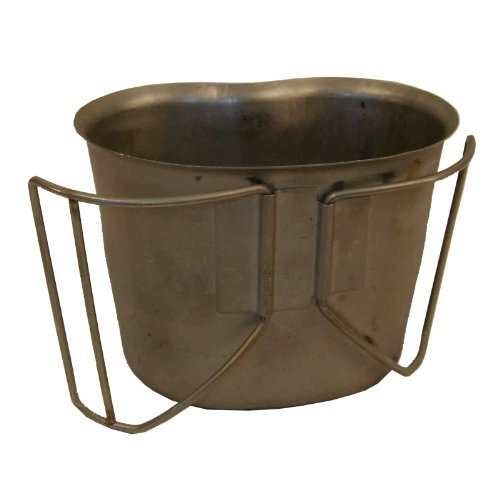 Canteen Cup Steel 1 QT by U.S. Military