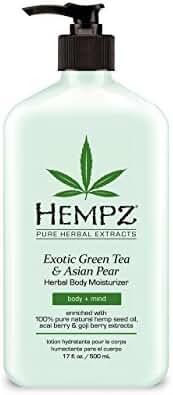 Hempz Exotic Herbal Body Moisturizer, Green Tea and Asian Pear, 17 Fluid Ounce