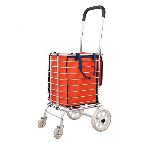 - LIXBD Outdoor Product/Shopping Carts, Trolleys, Trolleys, Folding Portable Household Carts, Trolleys for The Elderly. (Color : 4 Wheels)