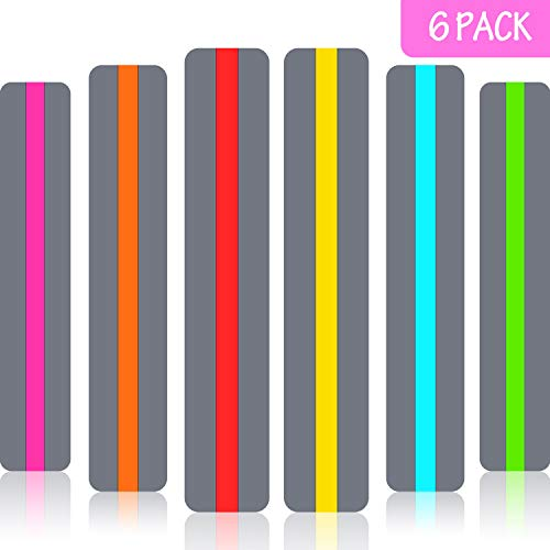 6 Pieces Guided Reading Strips Highlight Strips Colored Overlay Highlight Bookmarks Help with Dyslexia for Crystal Children and Teacher Supply Assistant (Bookmarks Highlighted)