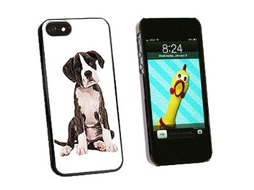 Graphics and More Puppy Dog Boxer Snap-On Hard Protective Case for iPhone 5/5s - Non-Retail Packaging - Black