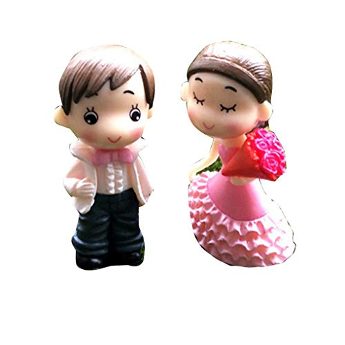 Bride and Groom Wedding Doll Cartoon Pvc Couple Figurines Miniatures Cake Decoration DIY Craft Home Ornament xuanL