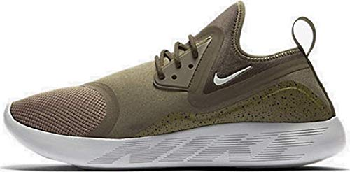 Nike Lunarcharge Essential Mens Running Trainers 923619 Sneakers Shoes (10, Medium Olive/Light Bone-Black)