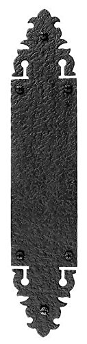Acorn Manufacturing WNBBP Warwick Collection 15 Inch Push Plate, Black Iron Finish