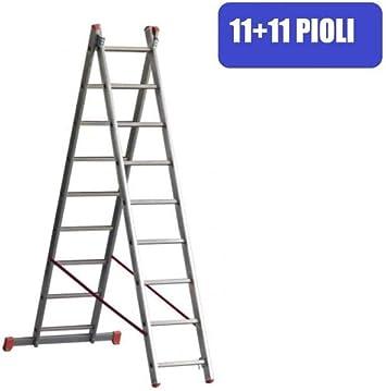 Escalera convertible a extensible aluminio Marchetti 2 elementos Troncos 11 + 11 5,40 m: Amazon.es: Bricolaje y herramientas