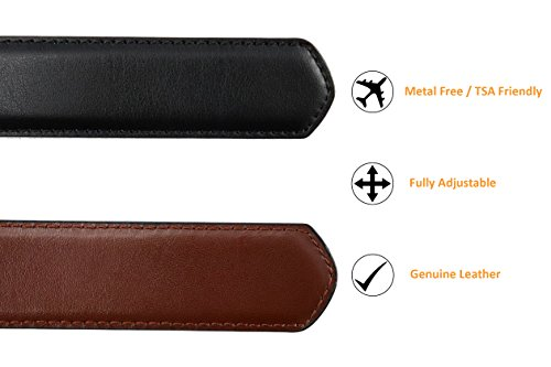 Metal Free Travel Belt (Large (40-42) Black/Brown by Thomas Bates (Image #4)