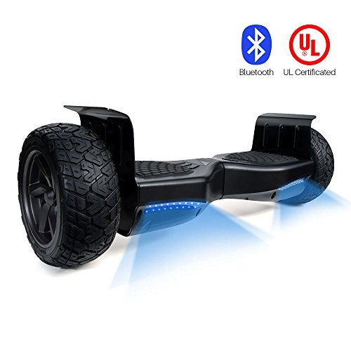 """VEEKO Hoverboard – UL Certified Self Balancing Hover board, 8.5""""All-Terrain Off-Road Two wheel Self-balancing Scooter speed of 15mph(bluetooth built in)"""