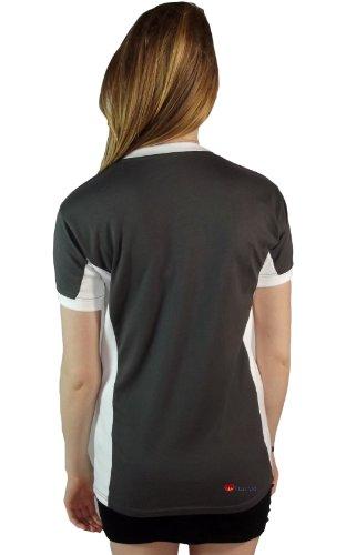 Mesdames Edimbourg n ° 9 T-shirt Marl Gris charbon