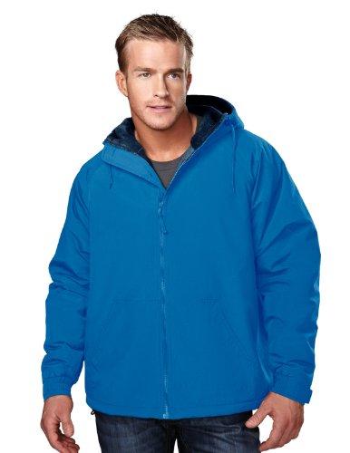 (Tri-Mountain Heavyweight Toughlan Nylon Hooded Jacket - 8480 Conqueror Imperial Blue/Navy)