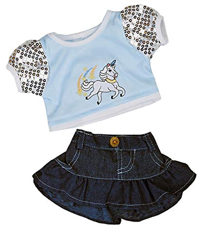 Bear Clothes Outfit - Unicorn Glitter Outfit Teddy Bear Clothes Outfit Fits Most 14