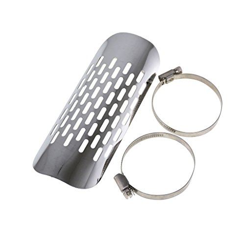 Mufflers Cruiser Motorcycle Exhaust - Motorcycle Muffler Pipe Exhaust Cover Heat Shield Heel Guard for Kawasaki Cruiser Softtail Dyna