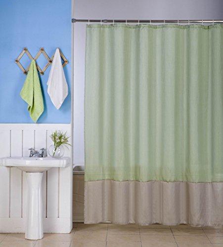 sage green shower curtain - 6