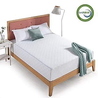 Zinus 12 Inch Gel-Infused Green Tea Memory Foam Mattress / Cooling Gel Foam / Pressure Relieving / CertiPUR-US Certified / Bed-in-a-Box, King