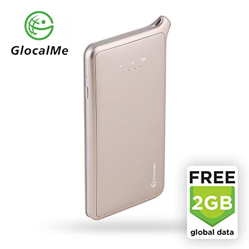 - GlocalMe U2 LTE Global Mobile Hotspot Wi-Fi with 2GB Global Initial Data, SIM Free, for Internet Coverage in Over 100 Countries, Compatible with Smartphones, Tablets, Laptops and More - (Gold)