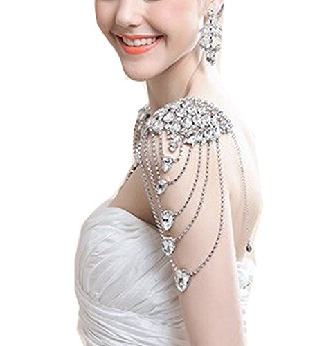 Wiipu Women Bride Bridemaid Wedding Luxury Shoulder Strap Crystal Jewelry(wed02) (WED204) by wiipujewelry