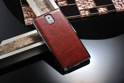 pretty nice f7f53 413e5 Excelsior Premium Leather Back Cover Case for Samsung Galaxy Note 3 (Brown)