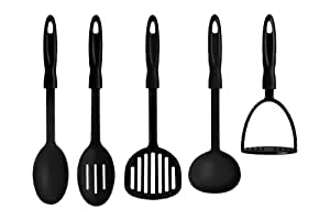 Premier Housewares Kitchen Tool Set - 5 -Piece - Black