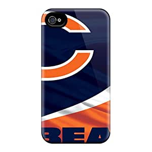 JasonPelletier Iphone 4/4s Shock-Absorbing Cell-phone Hard Cover Unique Design High Resolution Chicago Bears Image [xzA17132FwTG]