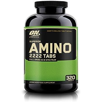 OPTIMUM NUTRITION Superior Amino 2222 Tablets, Complete Essential Amino Acids, EAAs, 320 Count
