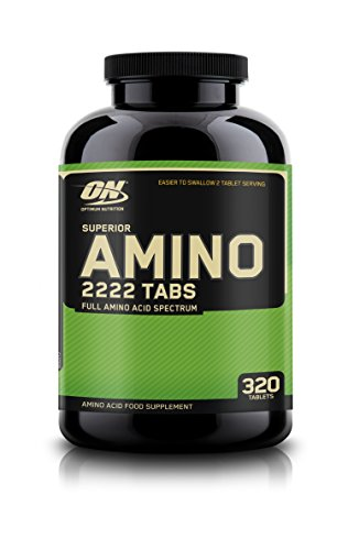 OPTIMUM NUTRITION Superior Amino 2222 Tablets, Complete Essential Amino Acids, EAAs, 320 Count