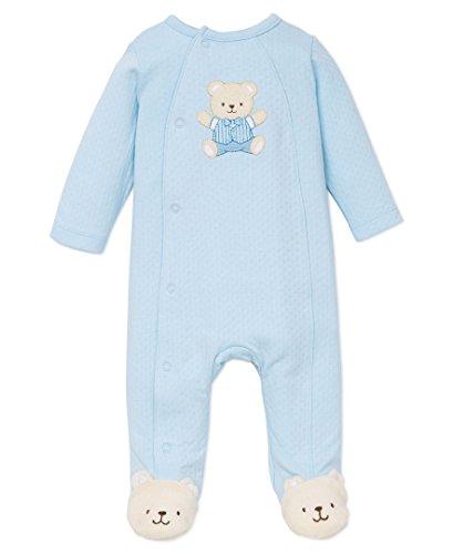 Little Me Baby-Boys Cute Bear Footie, Light Blue, Newborn (Baby Shirts For Boys Cute)