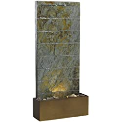 Kenroy Home #50621SL Brook Indoor/Outdoor Floor/Wall Fountain in Natural Slate Finish