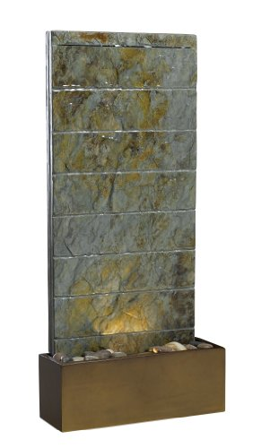 Kenroy Home #50621SL Brook Indoor/Outdoor Floor/Wall Fountain in Natural Slate Finish by Kenroy Home