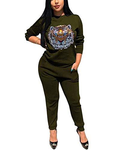 Women's Active Casual Velour Sweatpants Tracksuit Set (Csi Jumpsuit)