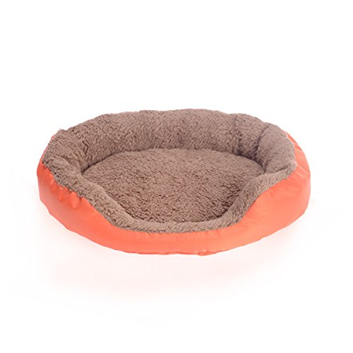 orange L orange L Warm Pet Bed, Sofa Bed, Cat Litter, Can Be Washed with Water,Easy to Clean (color   orange, Size   L)