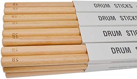 beige 5B VCB Trommelh/ölzer aus Buchenholz Anti-Rutsch-Schlagzeug Drumsticks Musical-Sticks