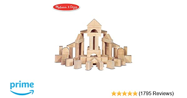 amazon com: melissa & doug standard unit solid-wood building blocks with  wooden storage crate (developmental toy, 60 pieces, 5 25