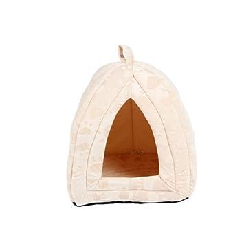 Wuwenw Lujo Suave para Mascotas Casa De Perro para Mascotas Gatos Muebles para El Hogar Plegable
