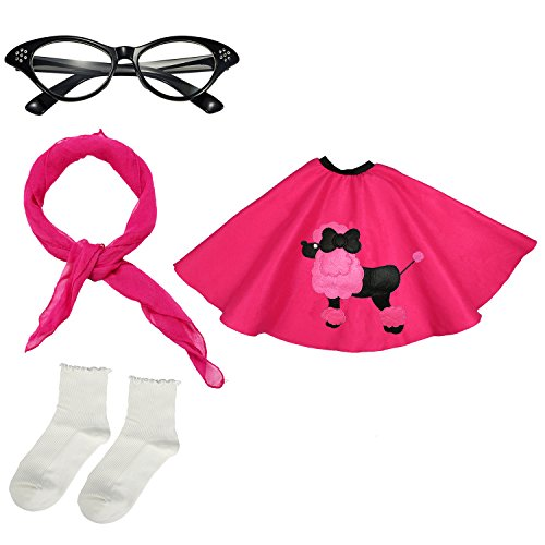 Girls 1950s Costume Accessory Set - Poodle Skirt,