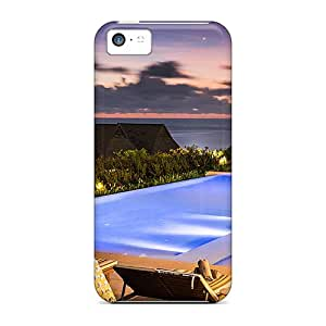 New Shockproof Protection Case Cover For Iphone 5c/ Sunset Pool In Fiji Case Cover